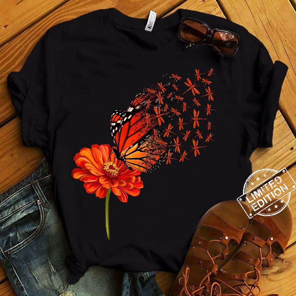 Drangonfly Butterfly T-Shirt
