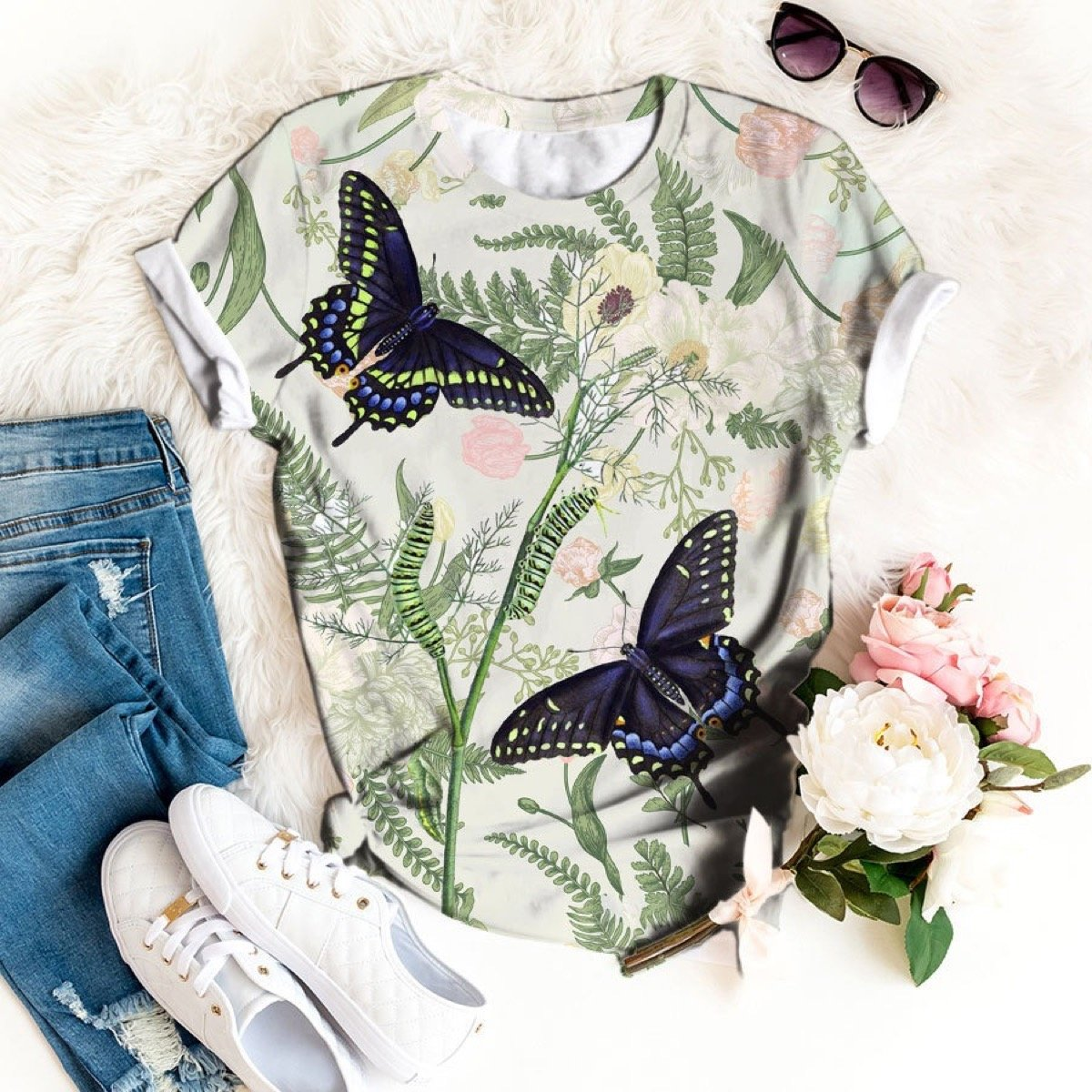 Free as a Butterfly T-shirt 2