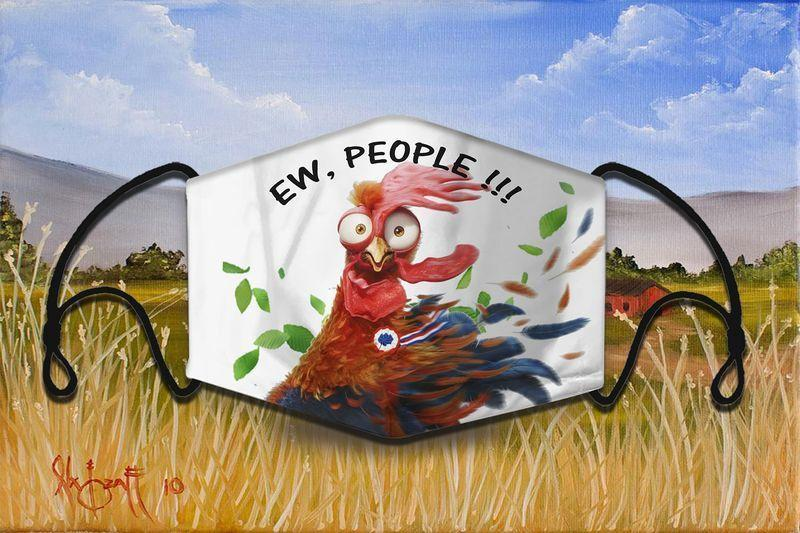 Farmer lover chicken 6 - NMD 346 face mask