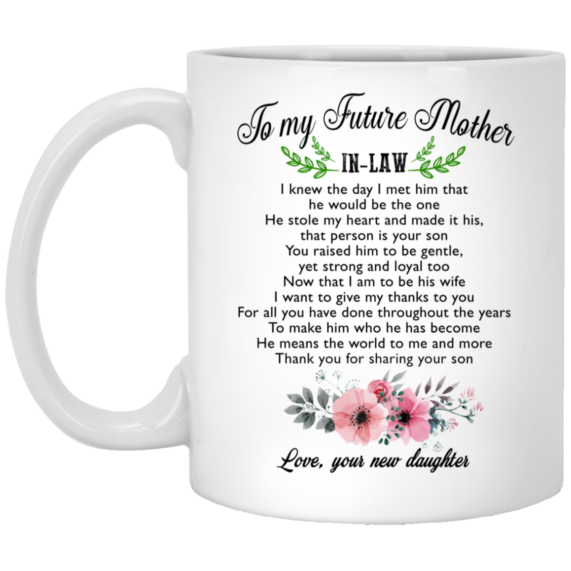 To My Future Mother-in-law, Thanks For Sharing Your Son Mug