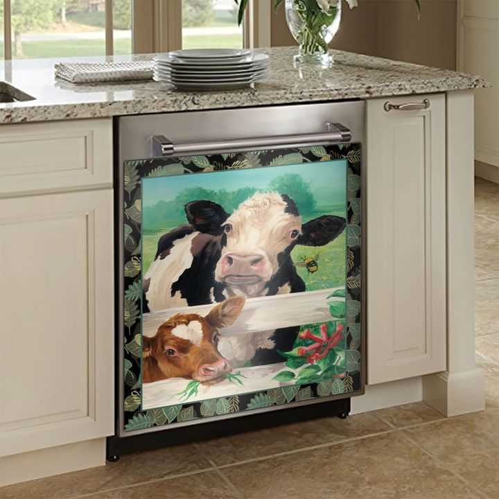 Cows Painting TCCL101110403 Decor Kitchen Dishwasher Cover