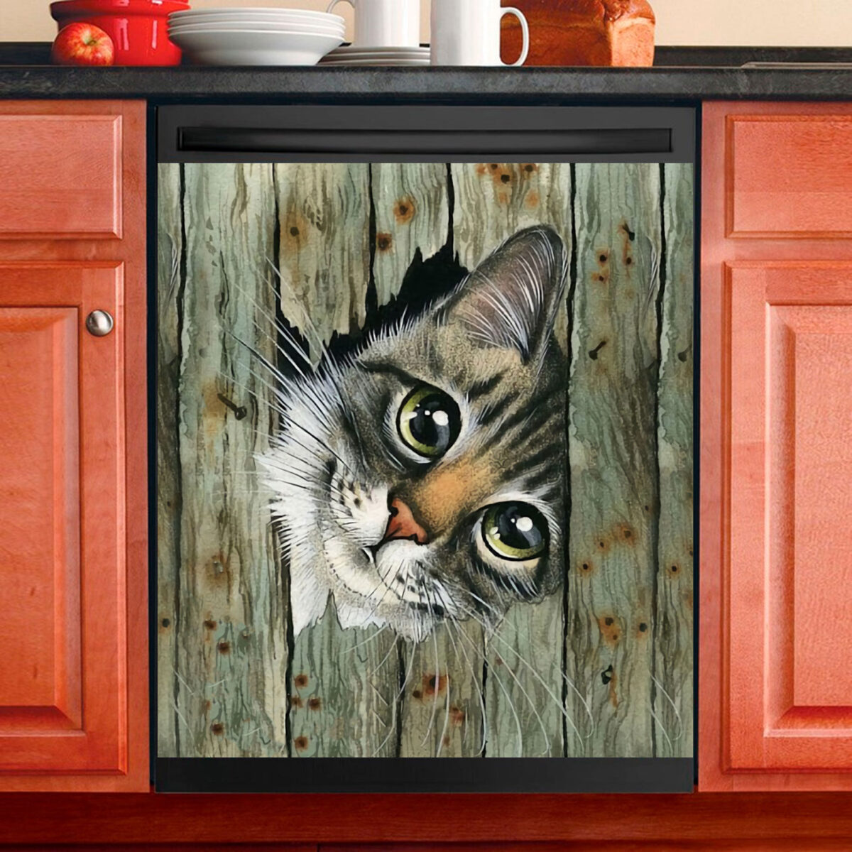 Love Cat Dishwasher Cover 3