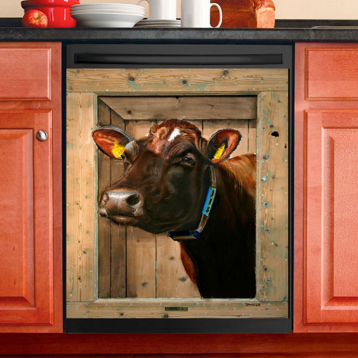 Love Cow Dishwasher Cover 7