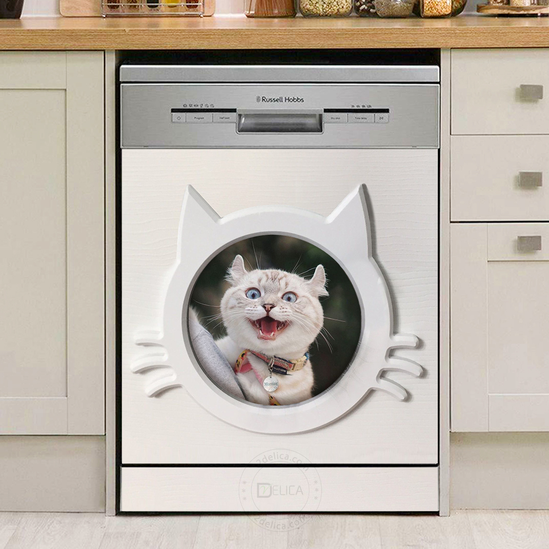Dishwasher Cover - Funny Cat 01