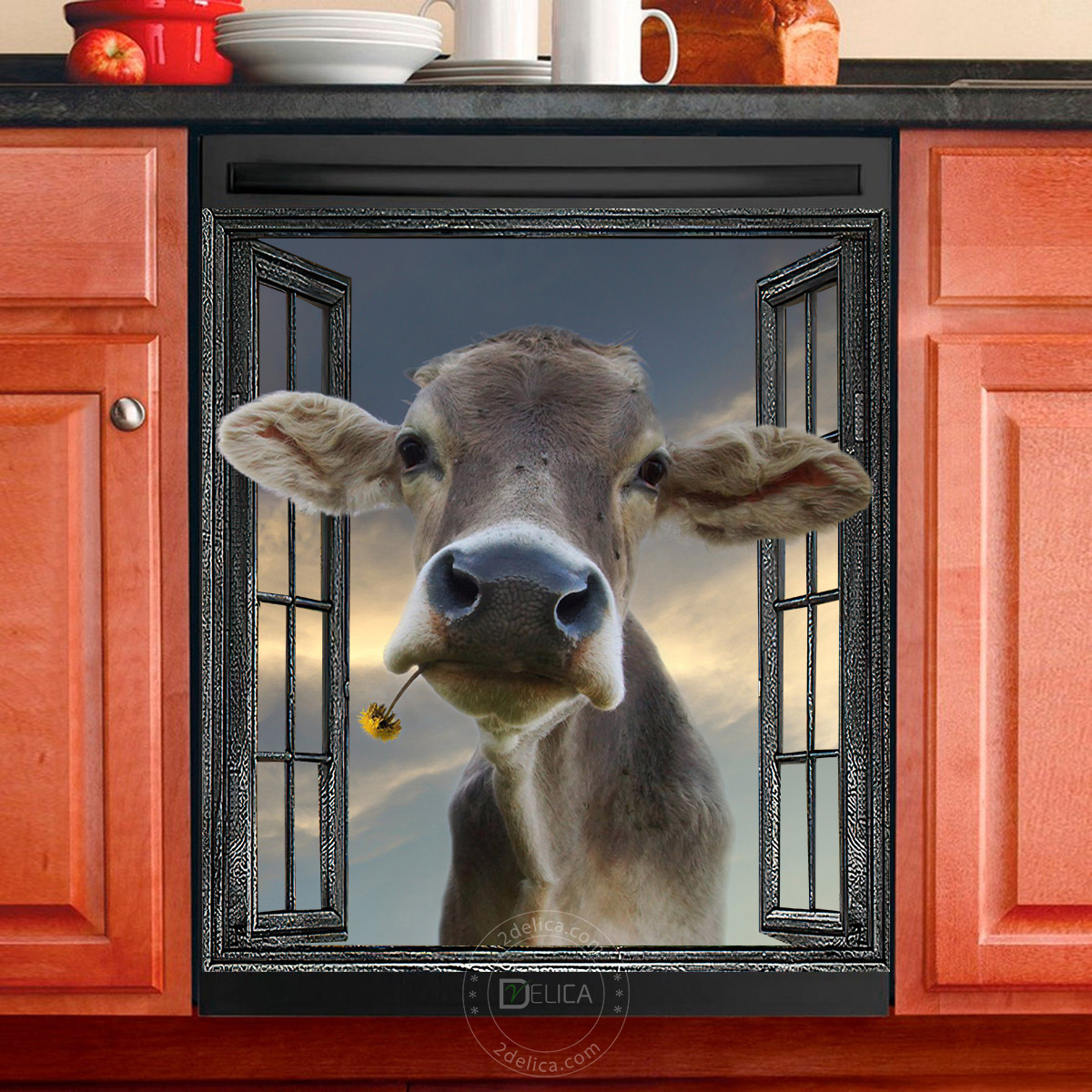 Dishwasher Cover - Funny Cow 04