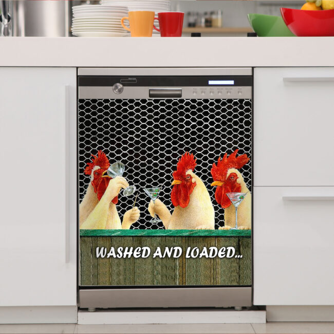 Chicken Rooster Hen Dishwasher Cover 2