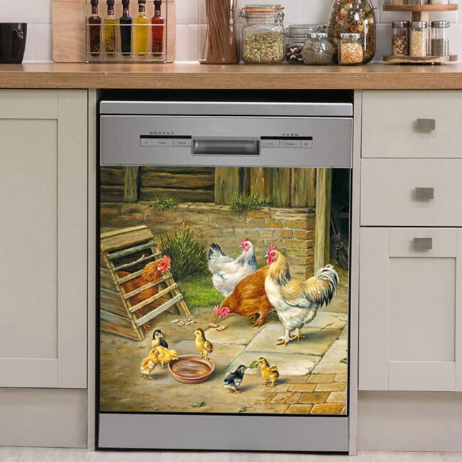 Chicken Rooster Hen Dishwasher Cover 3