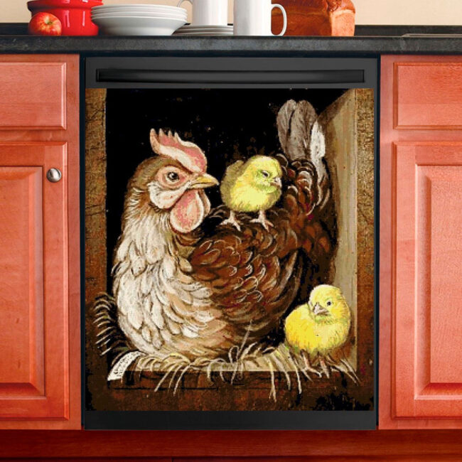 Chicken Rooster Hen Dishwasher Cover 5