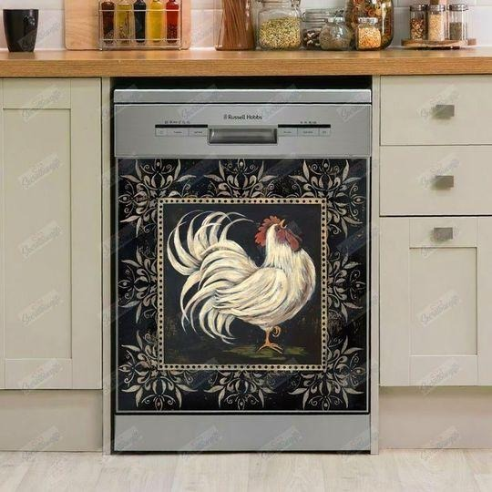 CHICKEN  DECOR KITCHEN DISHWASHER COVER 06