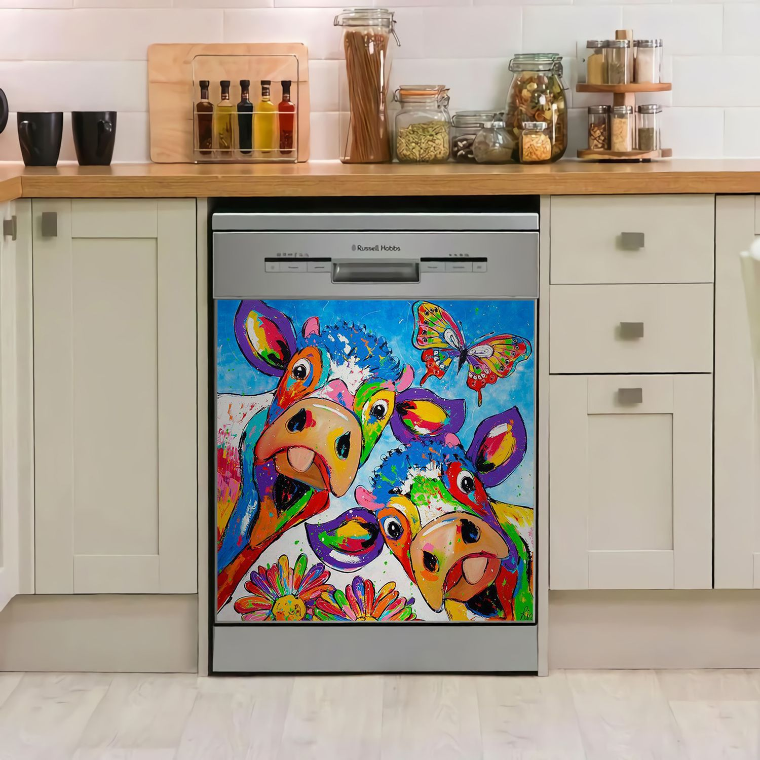 COW DONT NEED BEEF DECOR KITCHEN DISHWASHER COVER