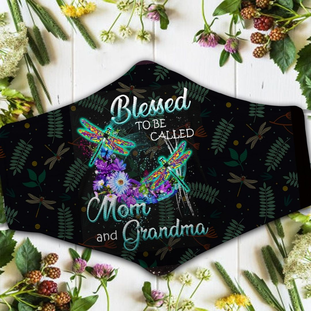 DRAGONFLY BLESSED TO BE CALLED MOM AND GRANDMA