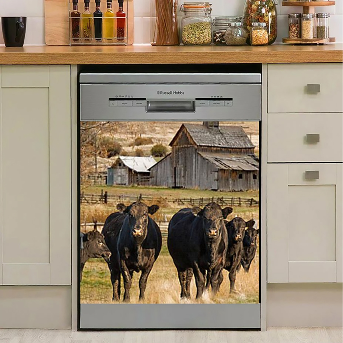 Cow Dishwasher Cover