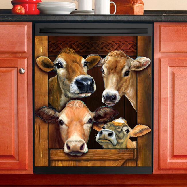 Cow Farm Decor Kitchen Dishwasher Cover  23