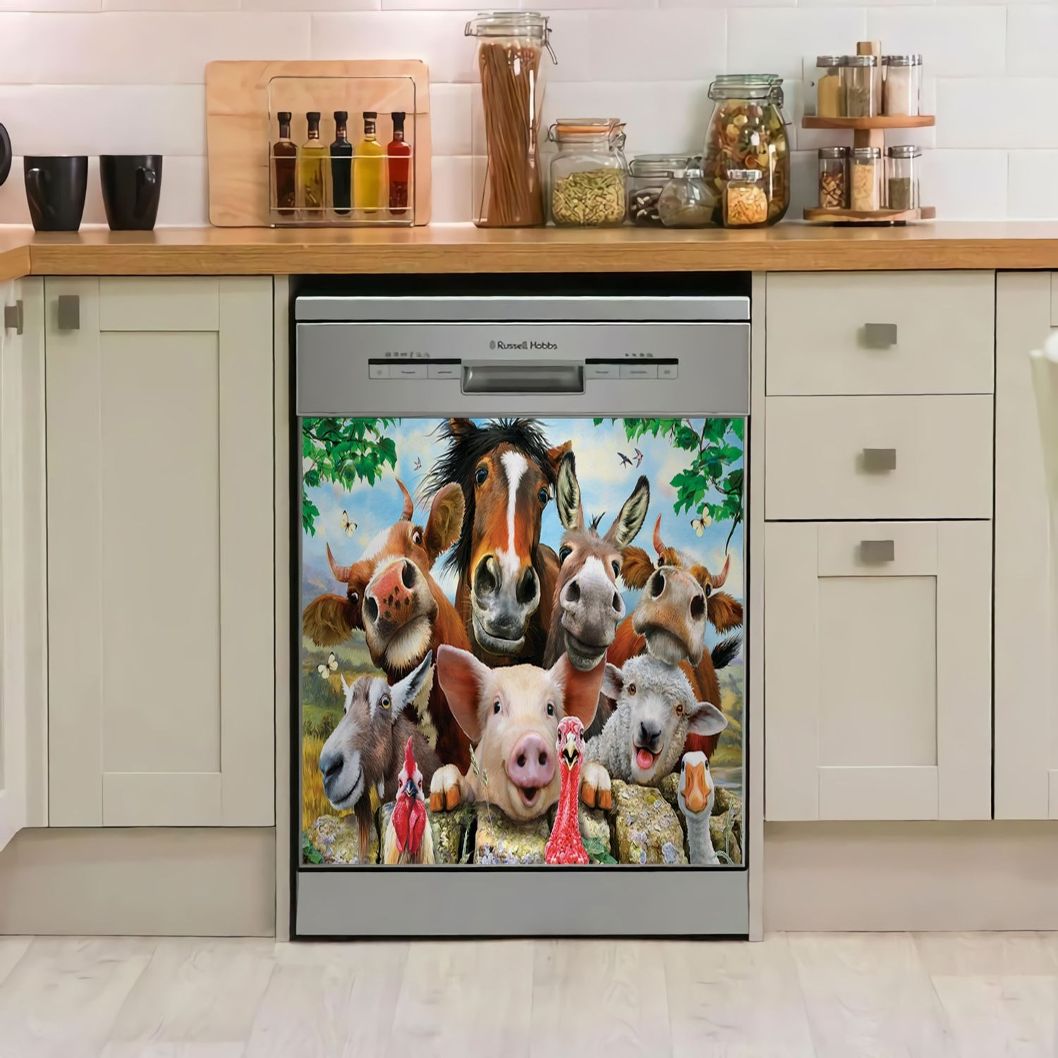 Farm Animals Decor Kitchen Dishwasher Cover 1