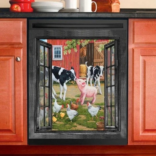 Farming Decor Kitchen Dishwasher Cover