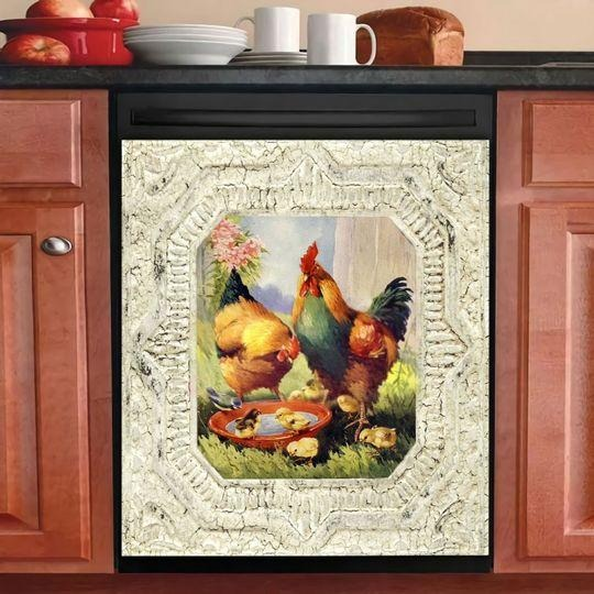 POULTRY FARMING DECOR KITCHEN DISHWASHER COVER 15