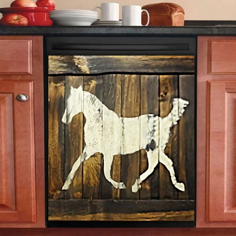 1 HORSE  DECOR KITCHEN DISHWASHER COVER