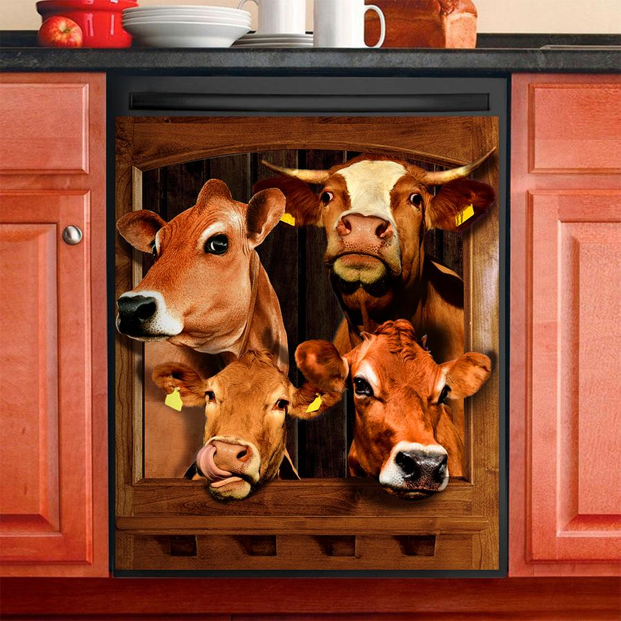 COW DECOR KITCHEN DISHWASHER COVER