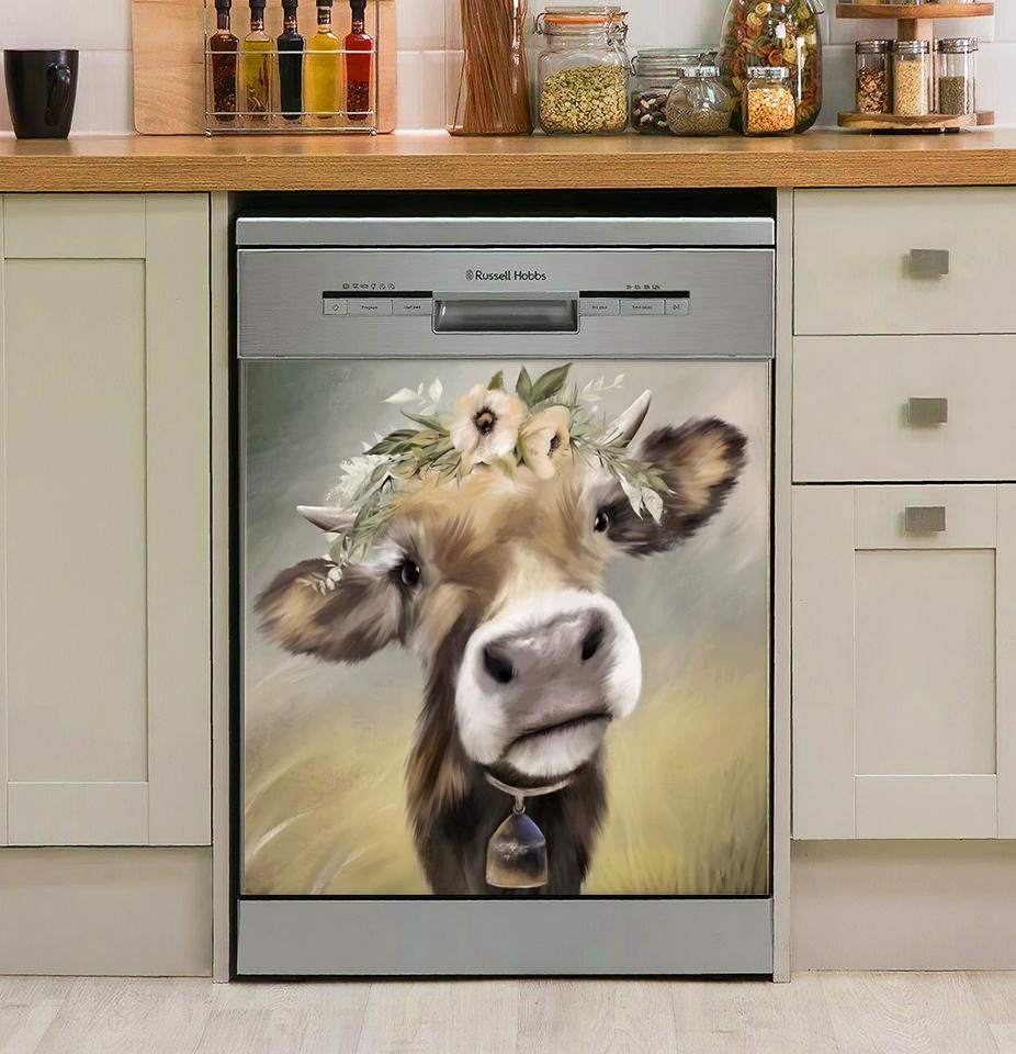 Cow Lover Decor Kitchen Dishwasher Cover