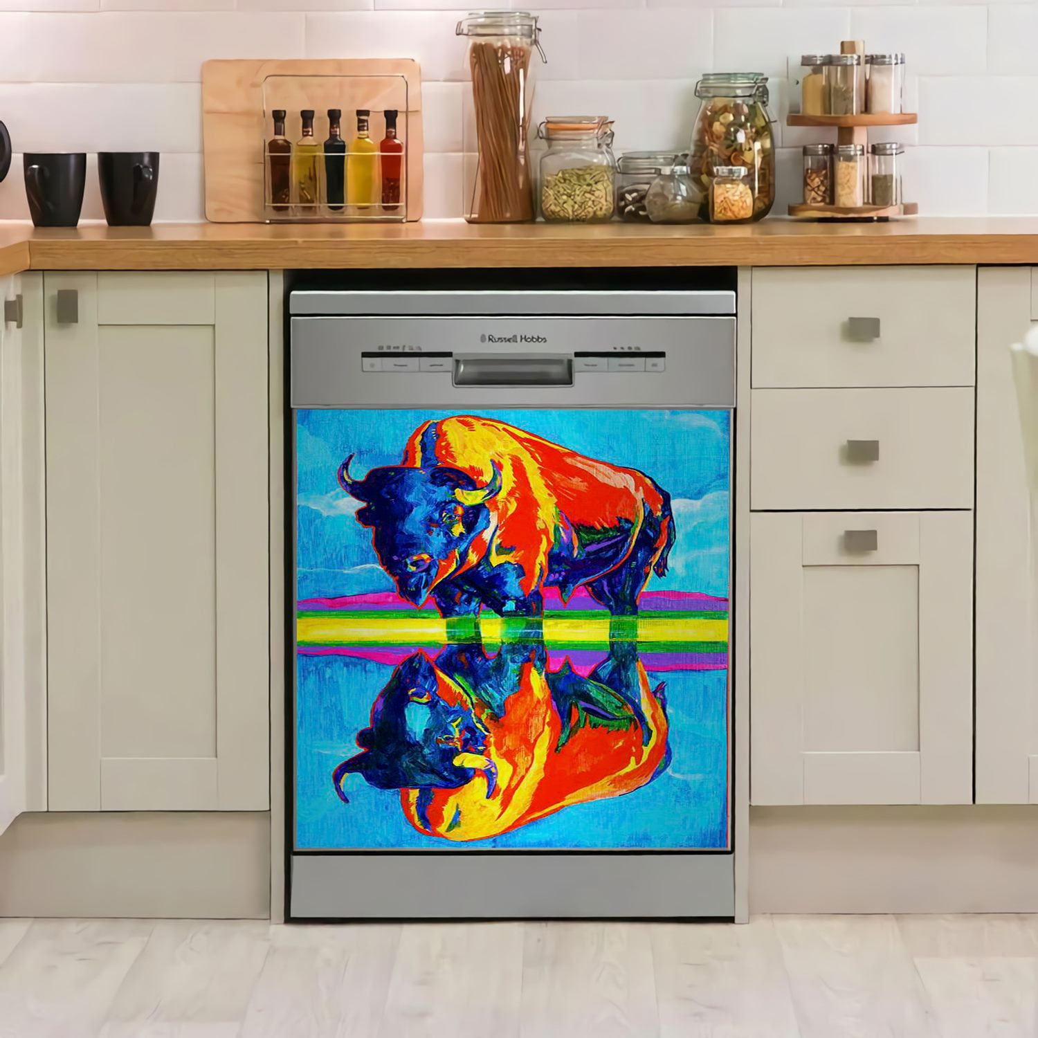 Cow Art Decor Kitchen Dishwasher Cover