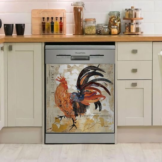 ROOSTER DECOR KITCHEN DISHWASHER COVER 5