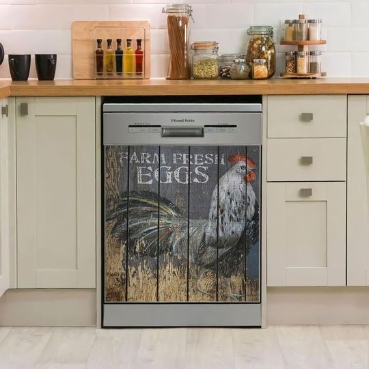 ROOSTER DECOR KITCHEN DISHWASHER COVER 9